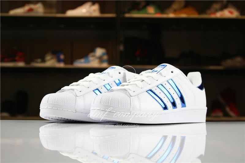 Adidas SUPERSTAR White and Blue Men/Women 2