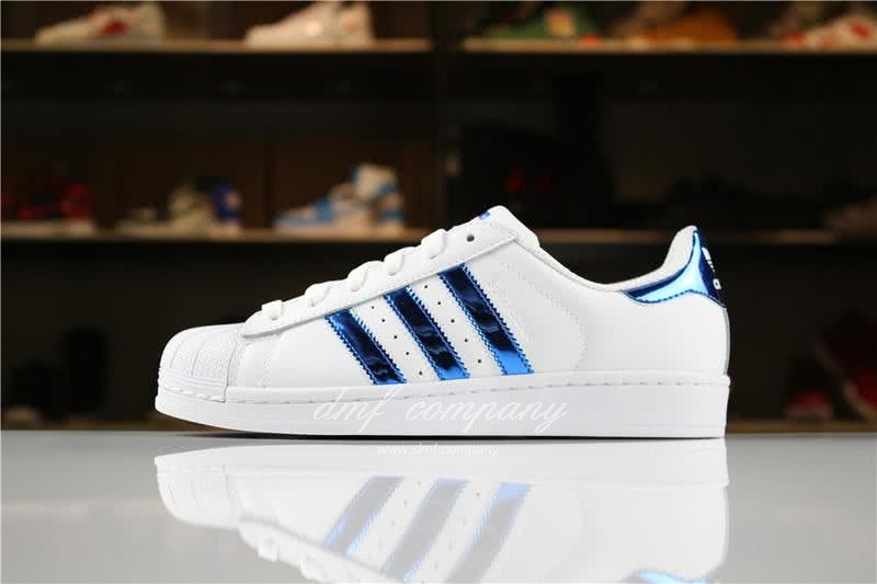 Adidas SUPERSTAR White and Blue Men/Women 1