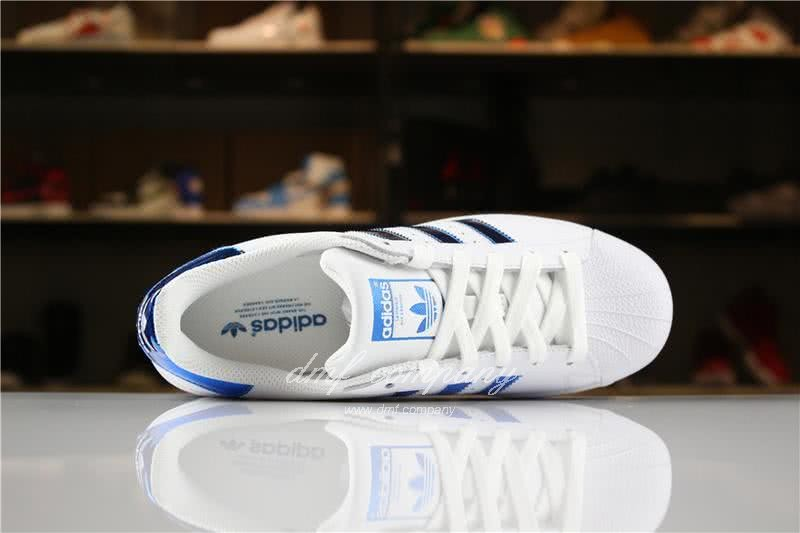 Adidas SUPERSTAR White and Blue Men/Women 4