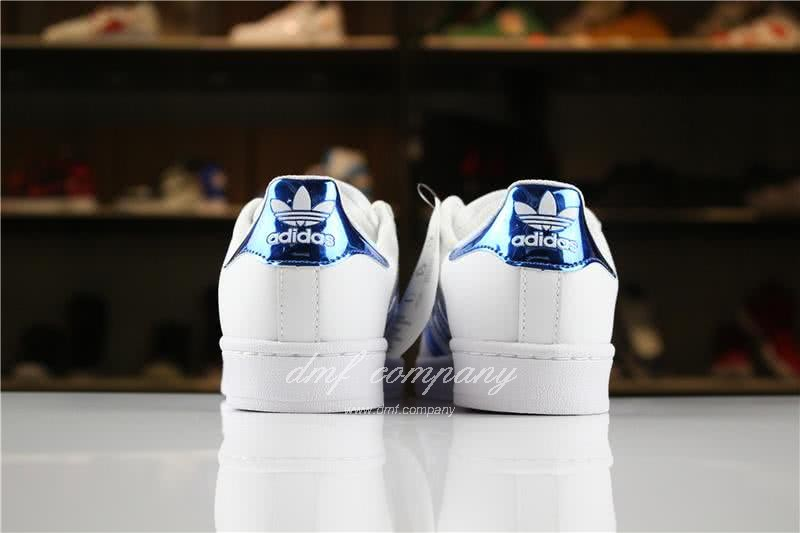 Adidas SUPERSTAR White and Blue Men/Women 5