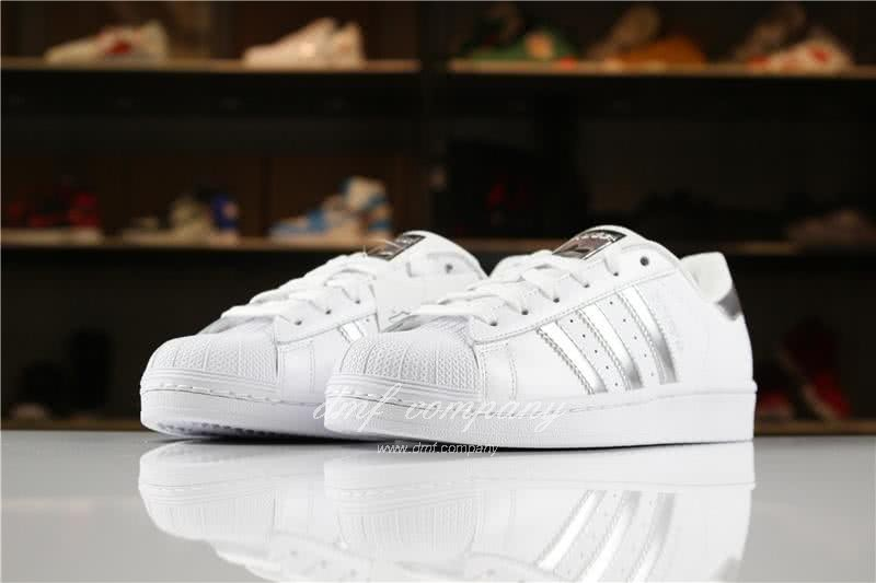 Adidas SUPERSTAR Sports Shoes  White/Silver Men/Women 2