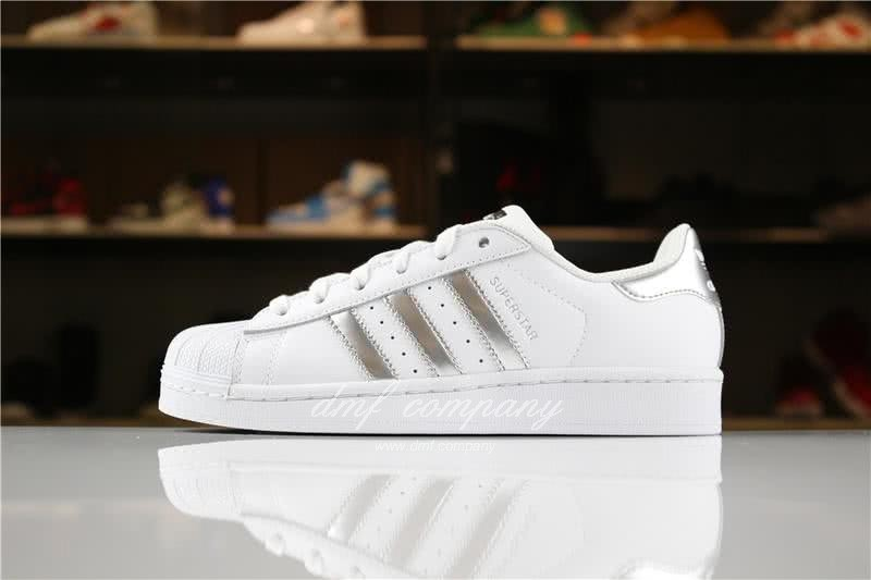 Adidas SUPERSTAR Sports Shoes  White/Silver Men/Women 1