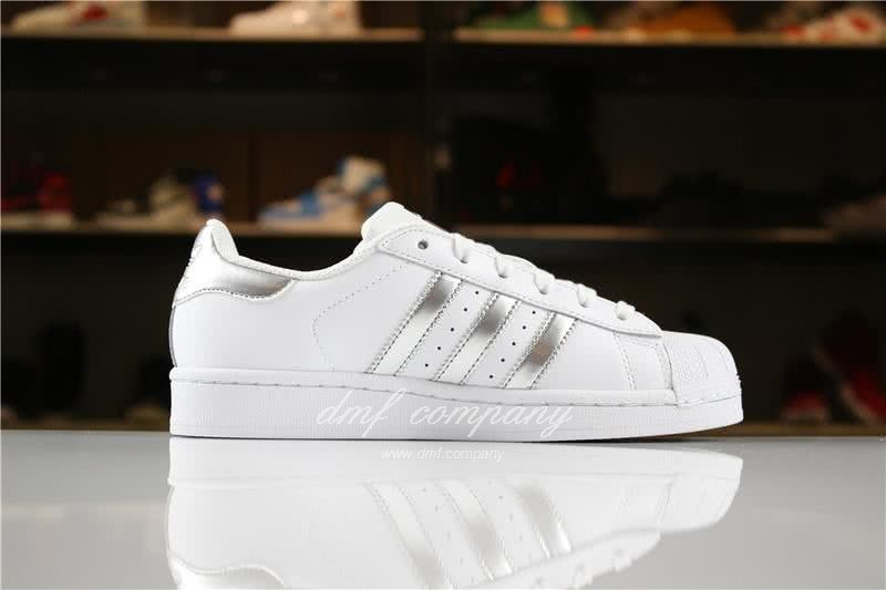 Adidas SUPERSTAR Sports Shoes  White/Silver Men/Women 3