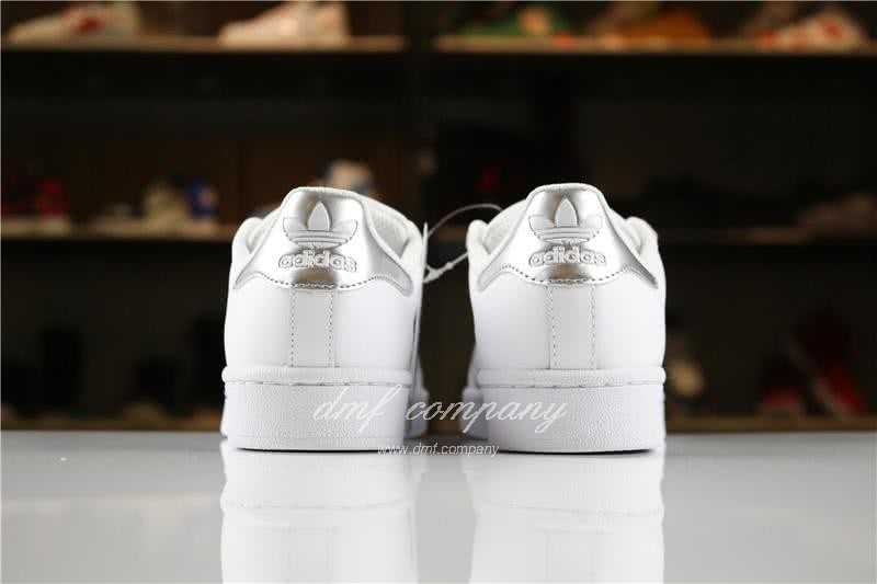Adidas SUPERSTAR Sports Shoes  White/Silver Men/Women 5
