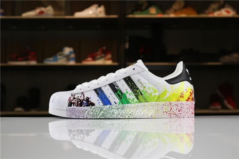Adidas SUPERSTAR White and Ink Color Men/Women 1