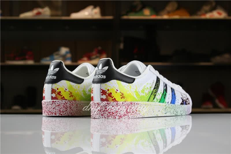 Adidas SUPERSTAR White and Ink Color Men/Women 6