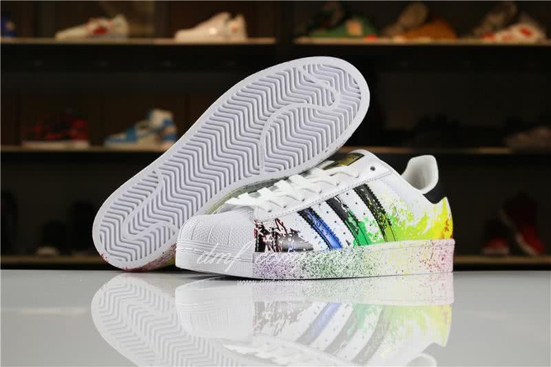 Adidas SUPERSTAR White and Ink Color Men/Women 5