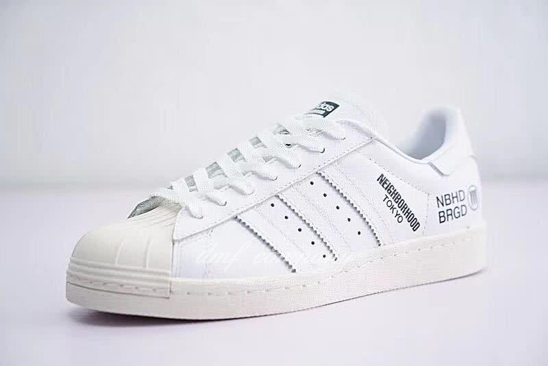 NEIGHBORHOOD x Adidas Originals Superstar 80s White Men/Women 3