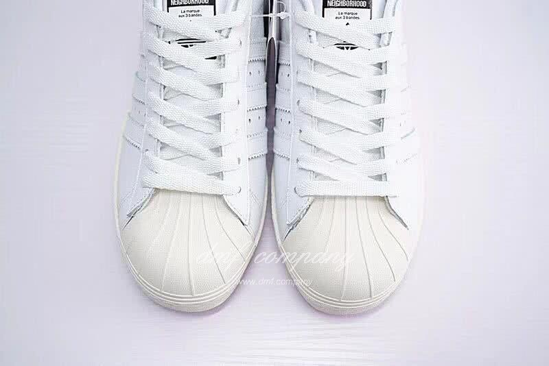 NEIGHBORHOOD x Adidas Originals Superstar 80s White Men/Women 4