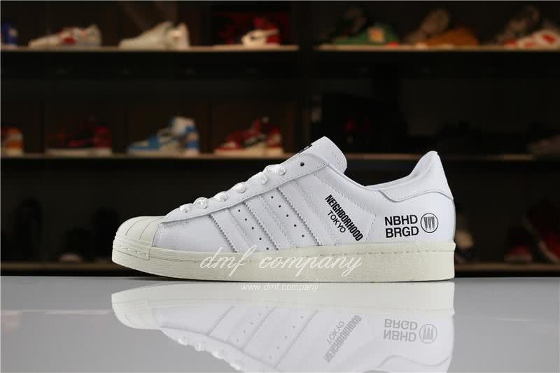 NEIGHBORHOOD x Adidas Originals Superstar 80s White Men/Women 6