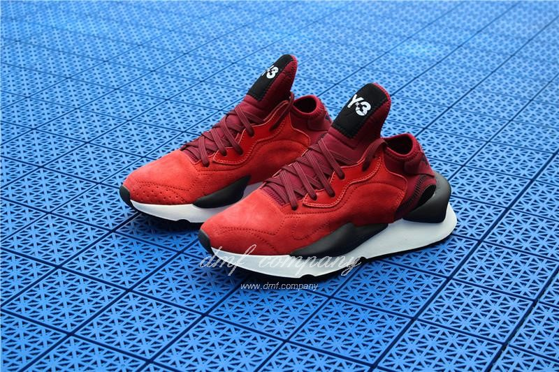 Adidas Y-3 ​Kaiwa Chunky Sneakers Women Men Red Black Shoes 2