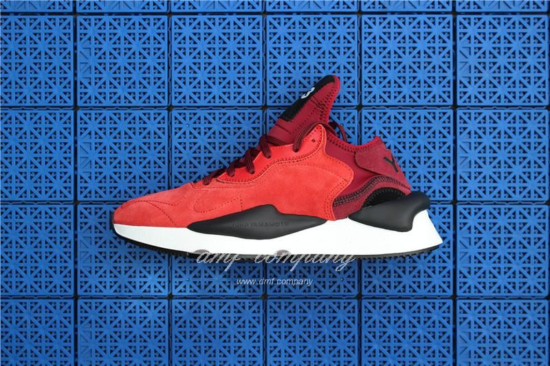Adidas Y-3 ​Kaiwa Chunky Sneakers Women Men Red Black Shoes 4