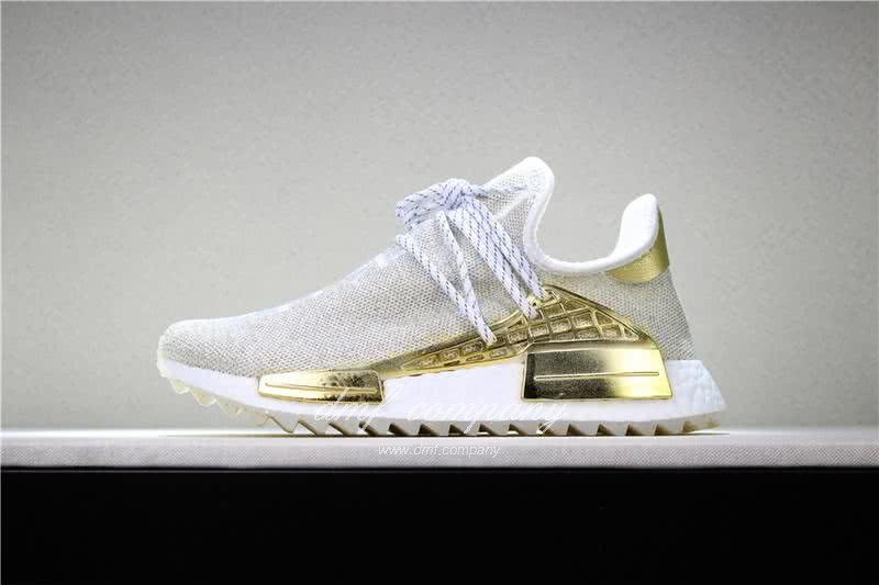Pharrell x adidas Originals Hu NMD BOOST Grey White And Yellow Men And Women 2