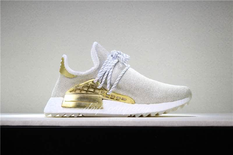 Pharrell x adidas Originals Hu NMD BOOST Grey White And Yellow Men And Women 3