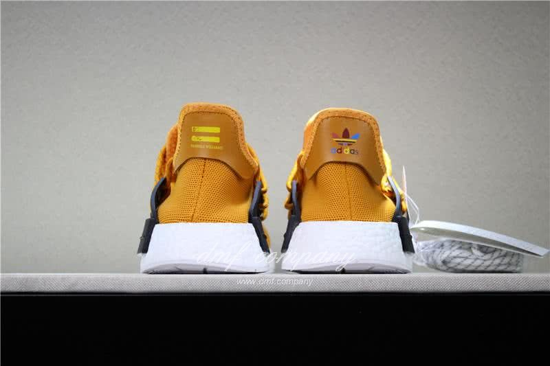 Adidas PW Human Race NMD Orange Black And White Men And Women 6