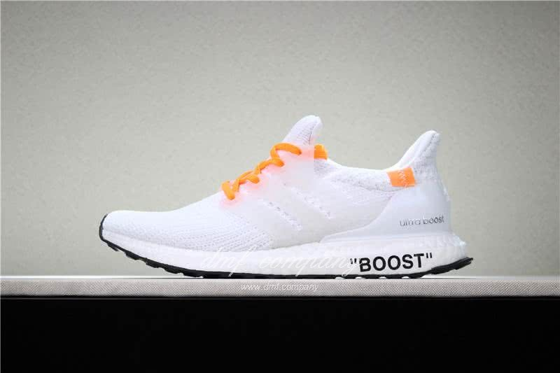 Adidas Ultra Boost 4.0  Men/Women White/Orange 1