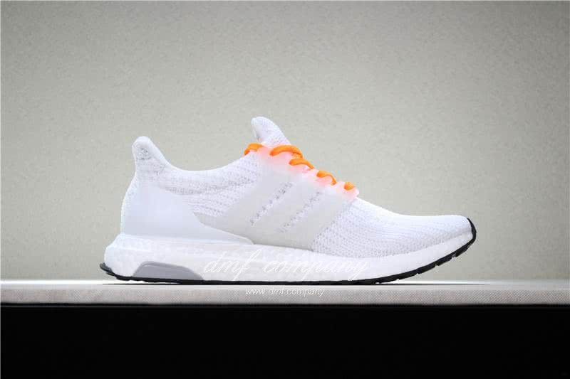 Adidas Ultra Boost 4.0  Men/Women White/Orange 3