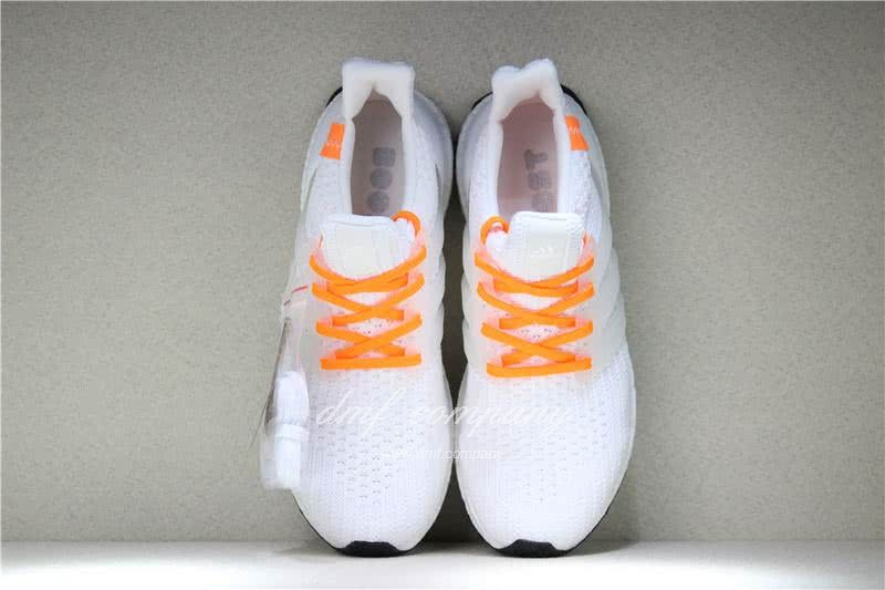 Adidas Ultra Boost 4.0  Men/Women White/Orange 6