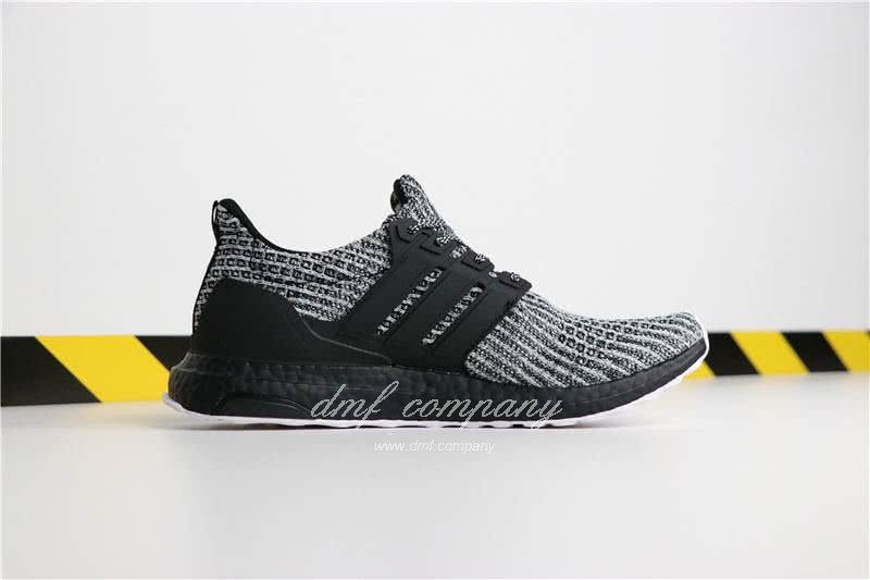 Adidas Ultra Boost 4.0 Men Women Grey Black Shoes 3