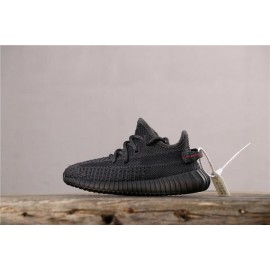 "Adidas Yeezy Boost 350 V2 ""BLACK REFLECTIVE"" GET Kids Shoes Black"
